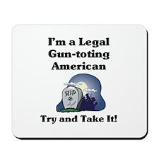 Gun-toting Mousepad