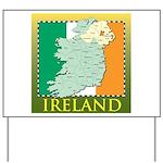 Ireland Map and Flag Yard Sign