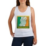 Ireland Map and Flag Women's Tank Top