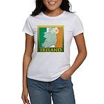 Ireland Map and Flag Women's T-Shirt