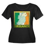 Ireland Map and Flag Women's Plus Size Scoop Neck