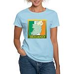 Ireland Map and Flag Women's Light T-Shirt