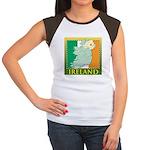 Ireland Map and Flag Women's Cap Sleeve T-Shirt