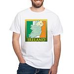 Ireland Map and Flag White T-Shirt