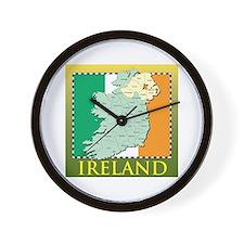 Ireland Map and Flag Wall Clock