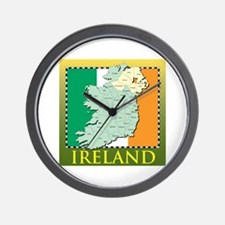 Ireland Map and Flag Wall Clock