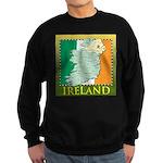 Ireland Map and Flag Sweatshirt (dark)