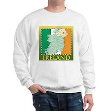 Ireland Map and Flag Sweatshirt