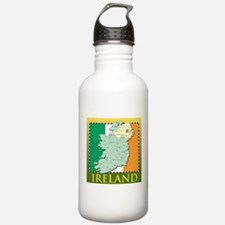 Ireland Map and Flag Water Bottle
