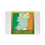 Ireland Map and Flag Rectangle Magnet (10 pack)