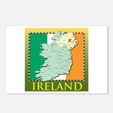 Ireland Map and Flag Postcards (Package of 8)