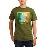 Ireland Map and Flag Organic Men's T-Shirt (dark)
