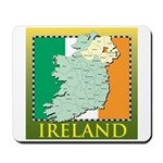 Ireland Map and Flag Mousepad