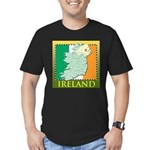 Ireland Map and Flag Men's Fitted T-Shirt (dark)