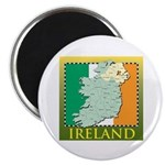 Ireland Map and Flag Magnet