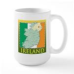 Ireland Map and Flag Large Mug