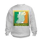 Ireland Map and Flag Kids Sweatshirt