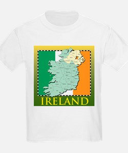Ireland Map and Flag T-Shirt