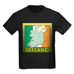 Ireland Map and Flag Kids Dark T-Shirt
