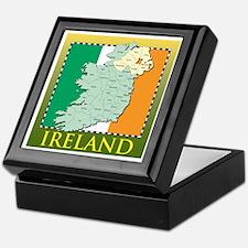 Ireland Map and Flag Keepsake Box