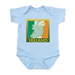 Ireland Map and Flag Infant Bodysuit