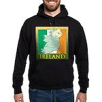Ireland Map and Flag Hoodie (dark)