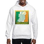 Ireland Map and Flag Hooded Sweatshirt