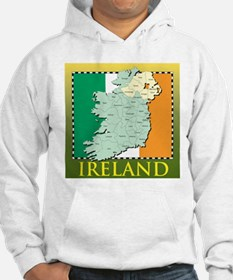 Ireland Map and Flag Hoodie