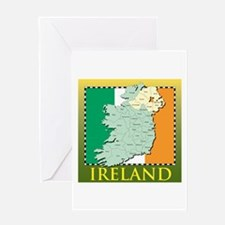 Ireland Map and Flag Greeting Card