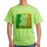 Ireland Map and Flag Green T-Shirt