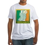 Ireland Map and Flag Fitted T-Shirt
