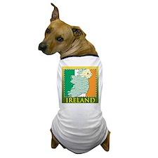 Ireland Map and Flag Dog T-Shirt