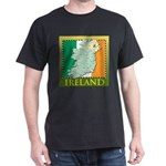 Ireland Map and Flag Dark T-Shirt