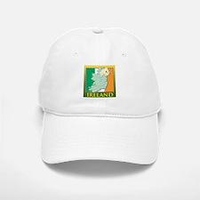 Ireland Map and Flag Baseball Baseball Cap