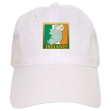 Ireland Map and Flag Baseball Cap