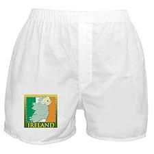 Ireland Map and Flag Boxer Shorts