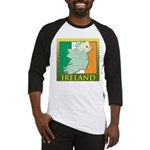 Ireland Map and Flag Baseball Jersey