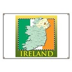 Ireland Map and Flag Banner