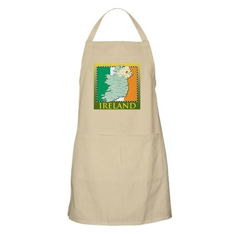 Ireland Map and Flag Apron