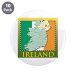 """Ireland Map and Flag 3.5"""" Button (10 pack)"""