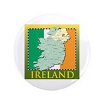 """Ireland Map and Flag 3.5"""" Button"""