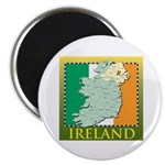 """Ireland Map and Flag 2.25"""" Magnet (100 pack)"""