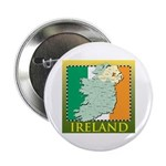 """Ireland Map and Flag 2.25"""" Button"""