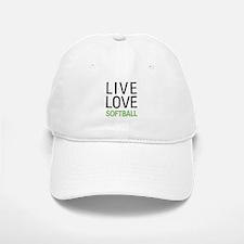Live Love Softball Baseball Baseball Cap