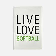 Live Love Softball Rectangle Magnet