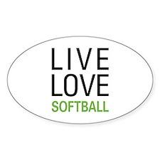 Live Love Softball Decal