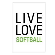 Live Love Softball Postcards (Package of 8)