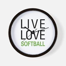 Live Love Softball Wall Clock