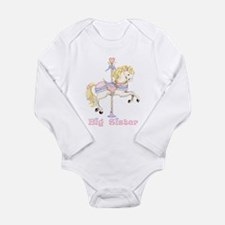 Carousel Pony Big Sister Long Sleeve Infant Bodysu