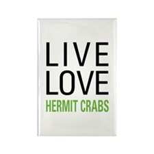 Live Love Hermit Crabs Rectangle Magnet (10 pack)